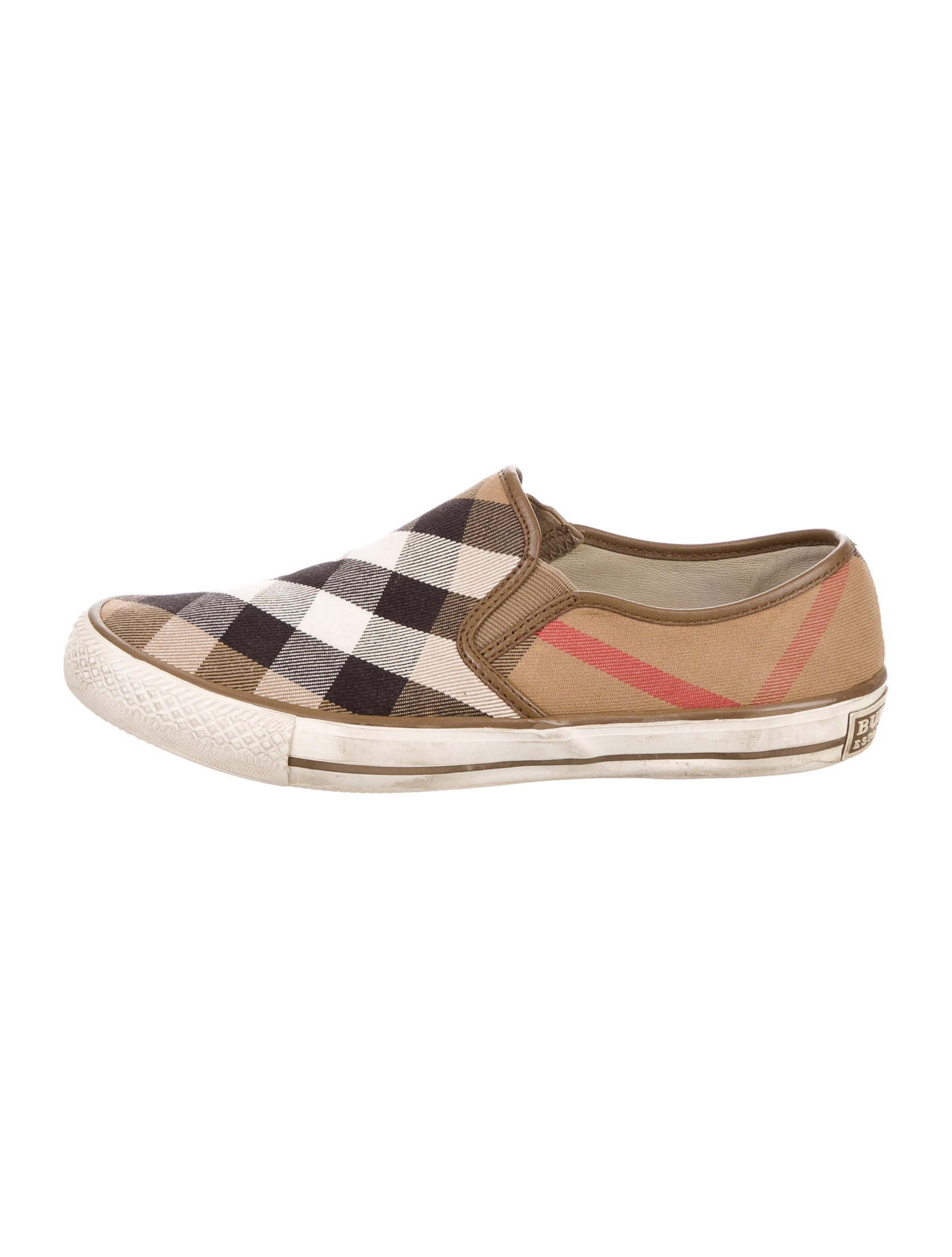 burberry check slip on sneakers shoes bur70280 the