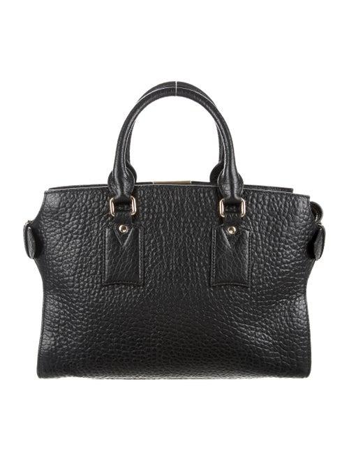 Burberry Medium Clifton Signature Grain Leather Satchel - Handbags ... 96a9fa138e659