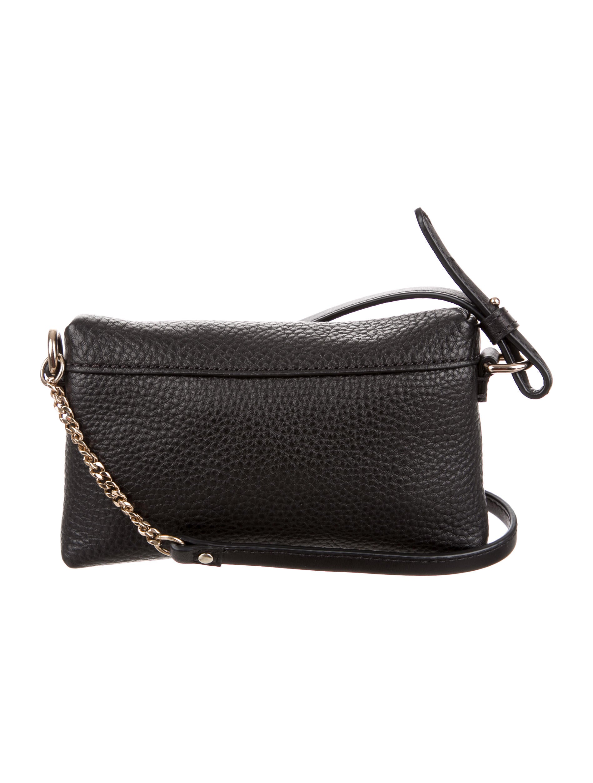 Black Pebbled Leather Crossbody Bag 93