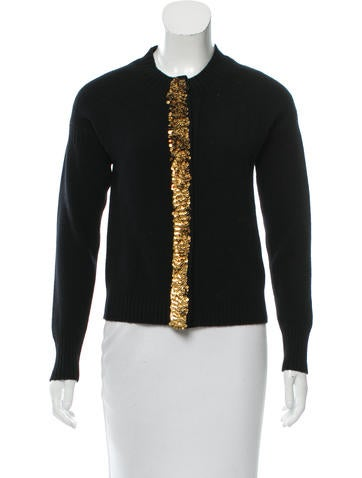Burberry Embellished Heavyweight Cardigan None