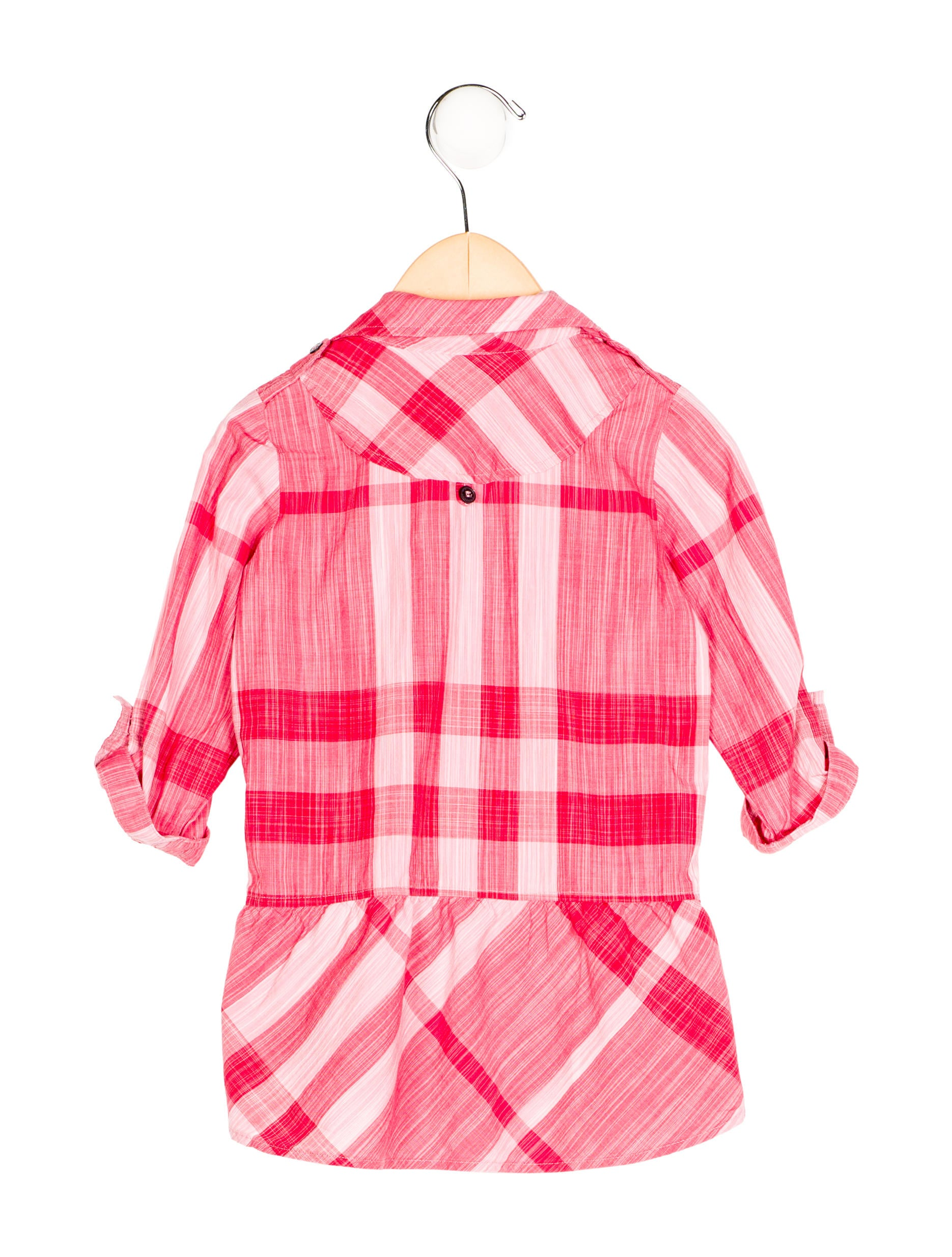 Burberry girls 39 exploded check shirt dress girls for Burberry check shirt dress