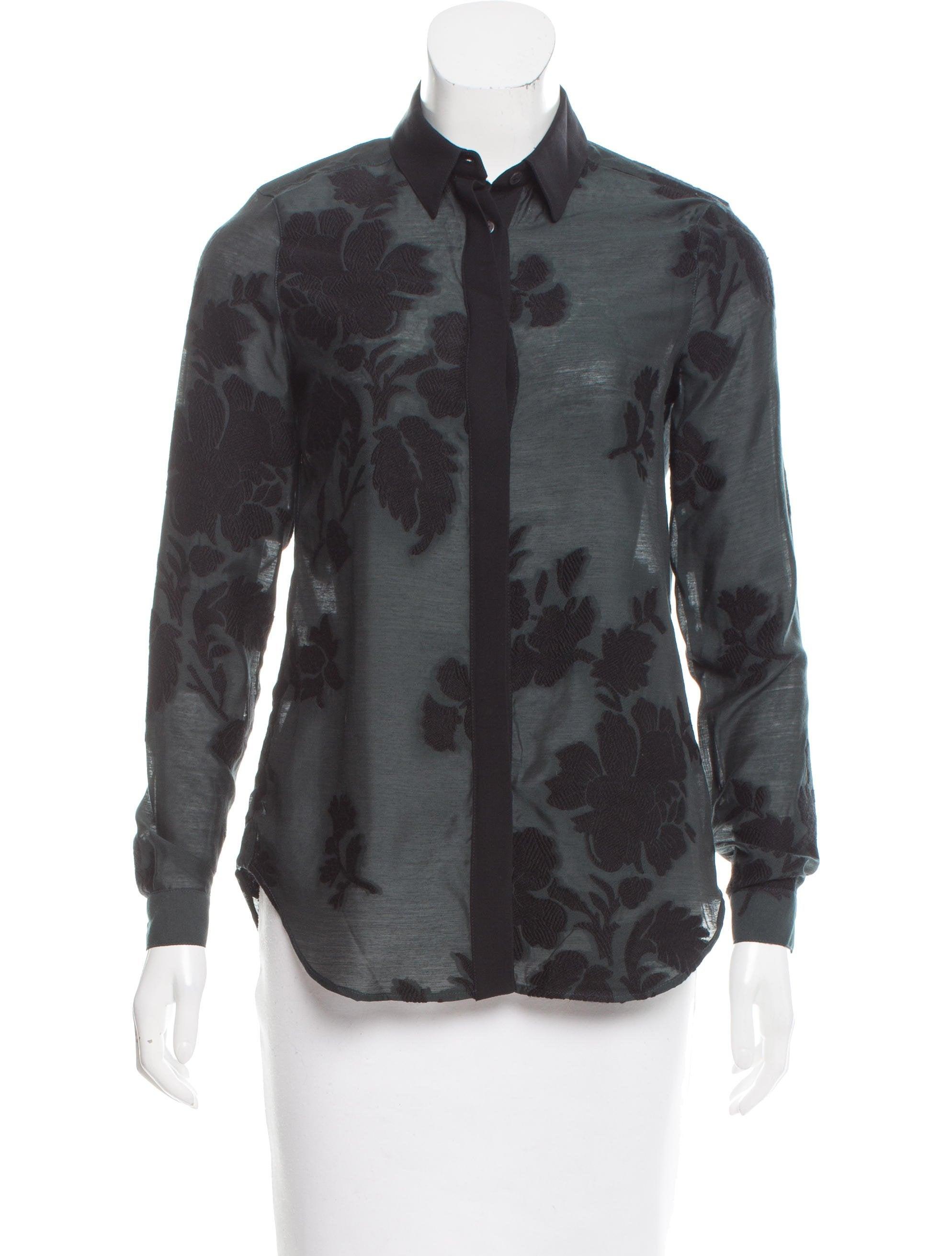 Burberry wool blend button up top clothing bur71490 for Best wool shirt jackets