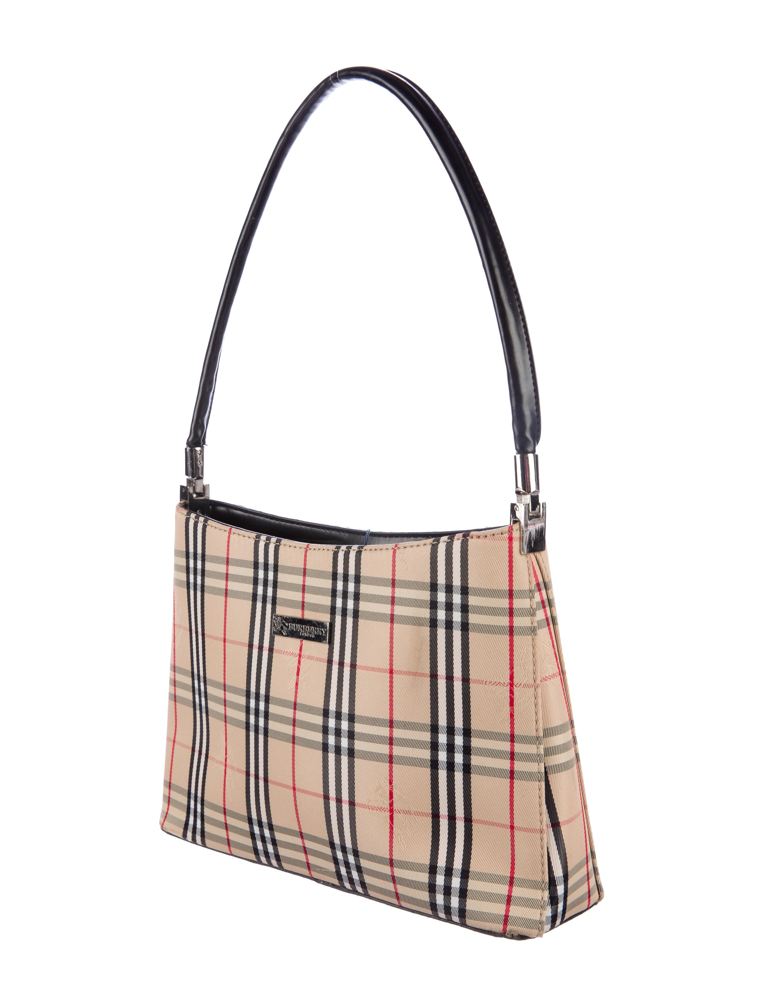 Burberry Haymarket Check Shoulder Bag Handbags