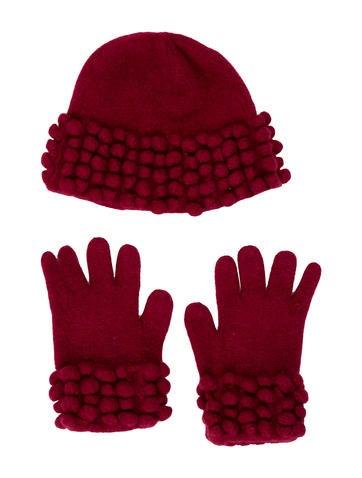 Burberry Girls' Wool Beanie & Glove Set None
