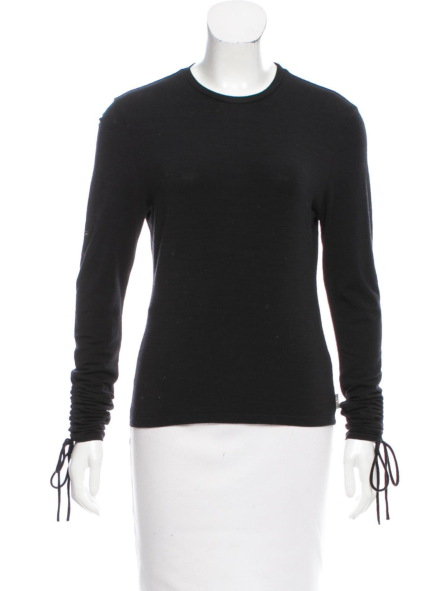 Burberry wool long sleeve top clothing bur72762 the for Best wool shirt jackets