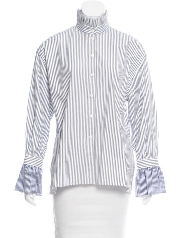 Burberry Striped Button-Up Top None
