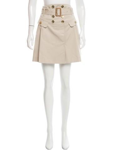 burberry pleated mini skirt clothing bur73035 the