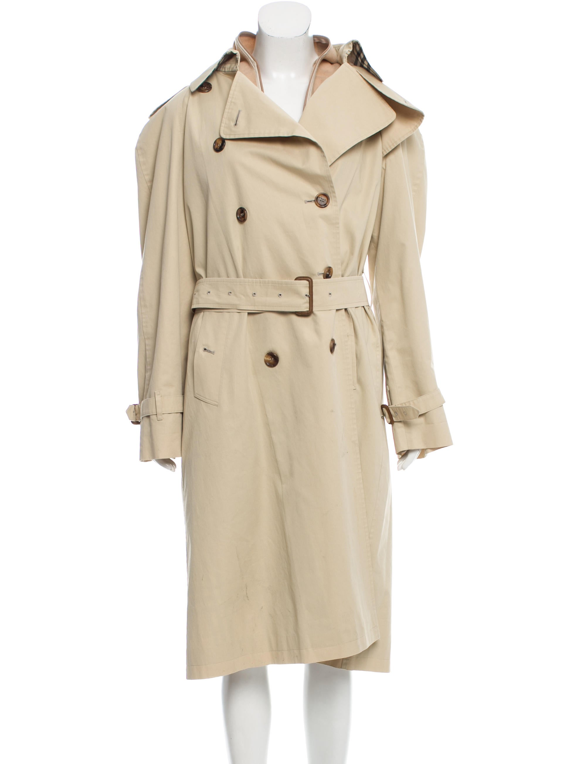 burberry double breasted trench coat clothing bur73441 the realreal. Black Bedroom Furniture Sets. Home Design Ideas