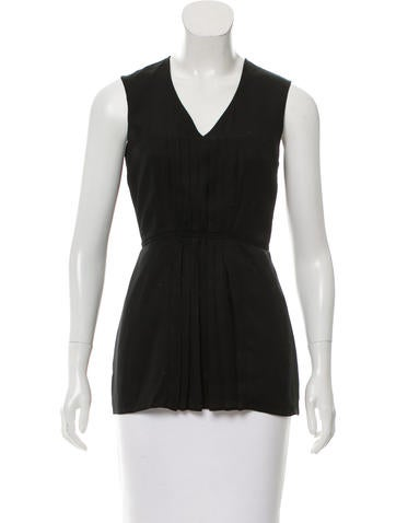 Burberry Sleeveless Pleated Top None