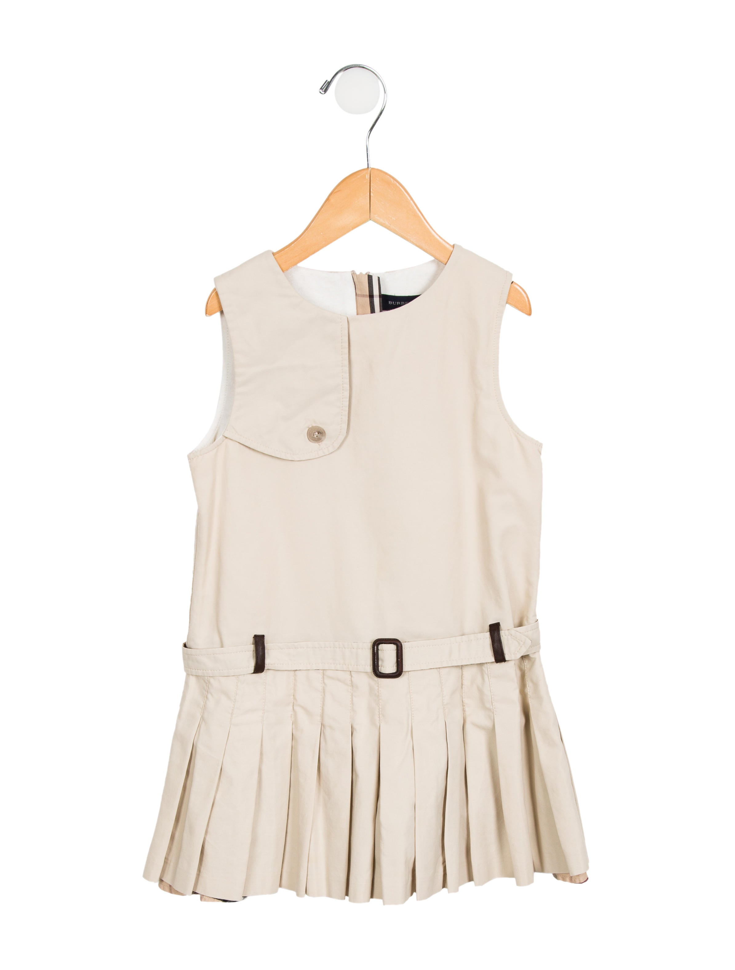 Burberry Girls Pleated Sleeveless Dress Girls  : BUR736431enlarged from www.therealreal.com size 2389 x 3151 jpeg 179kB