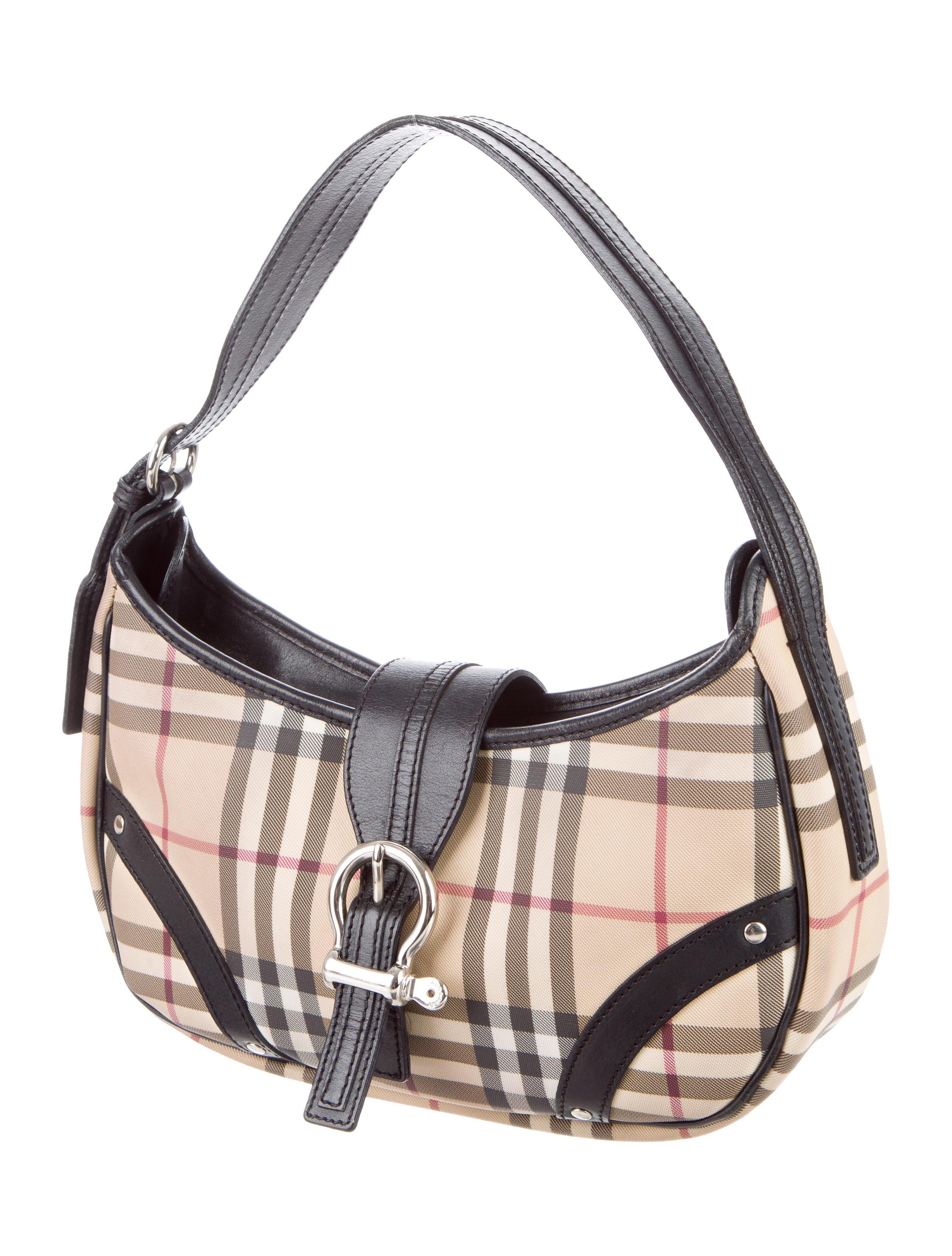 Burberry Nova Check Shoulder Bag - Handbags - BUR73689 ...