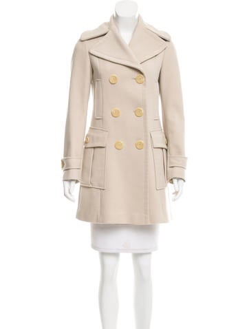 Luxury New Womenu0026#39;s Wool Coat Autumn And Winter 2016 Long Double Breasted Wool Blend Pea Coats Fashion ...