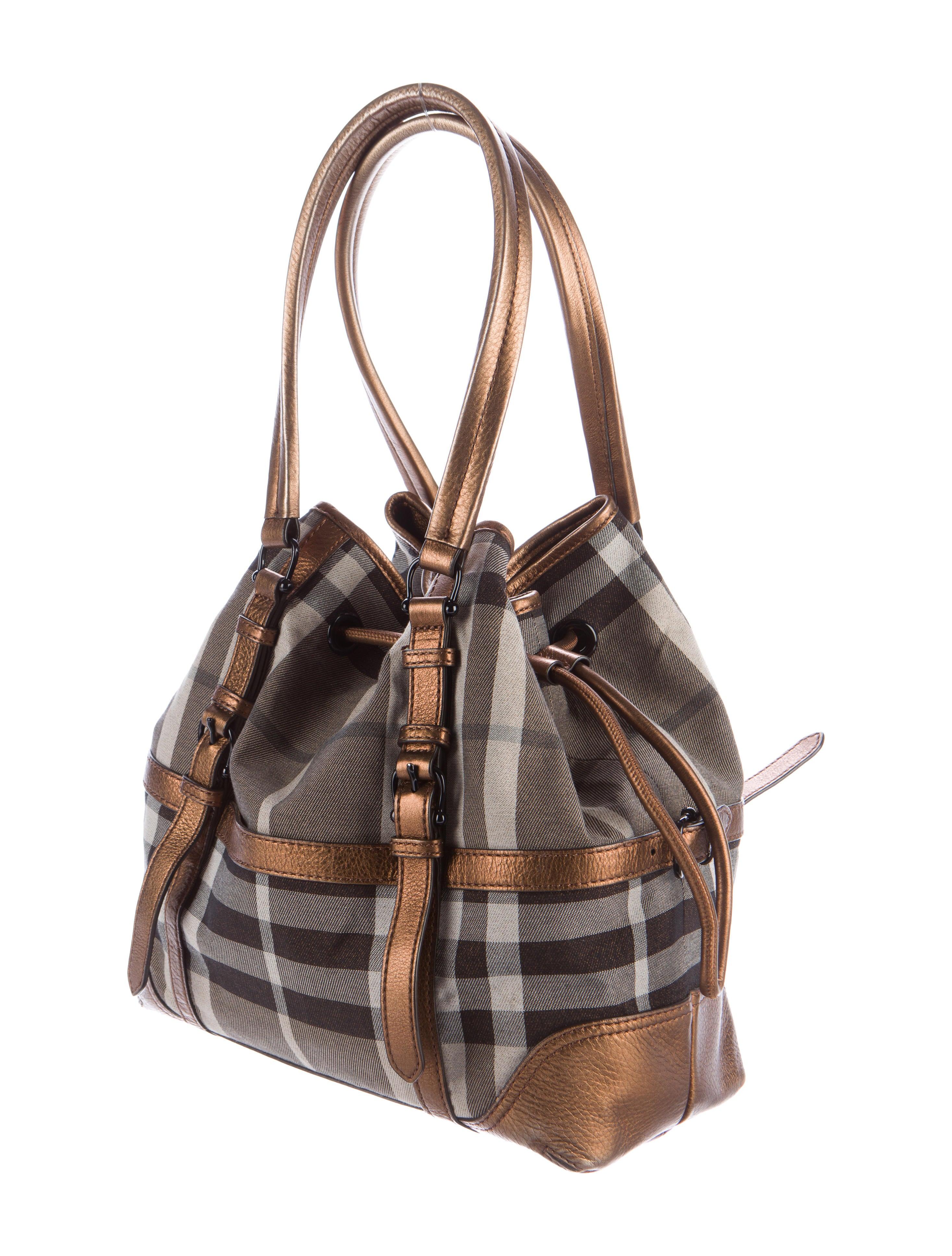 Burberry Smoked Check Shoulder Bag - Handbags - BUR74329 ...