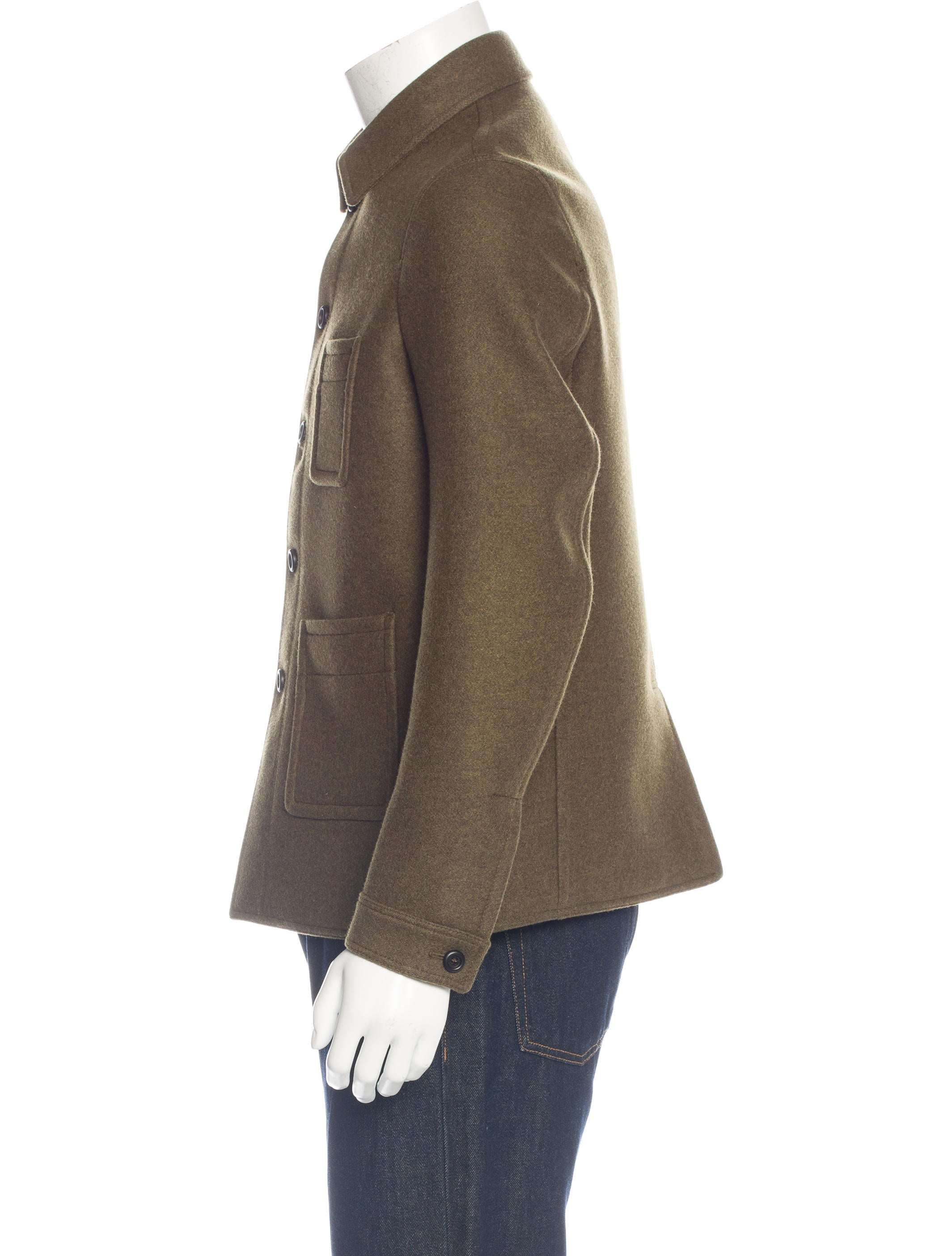 burberry wool jacket clothing bur74355 the realreal