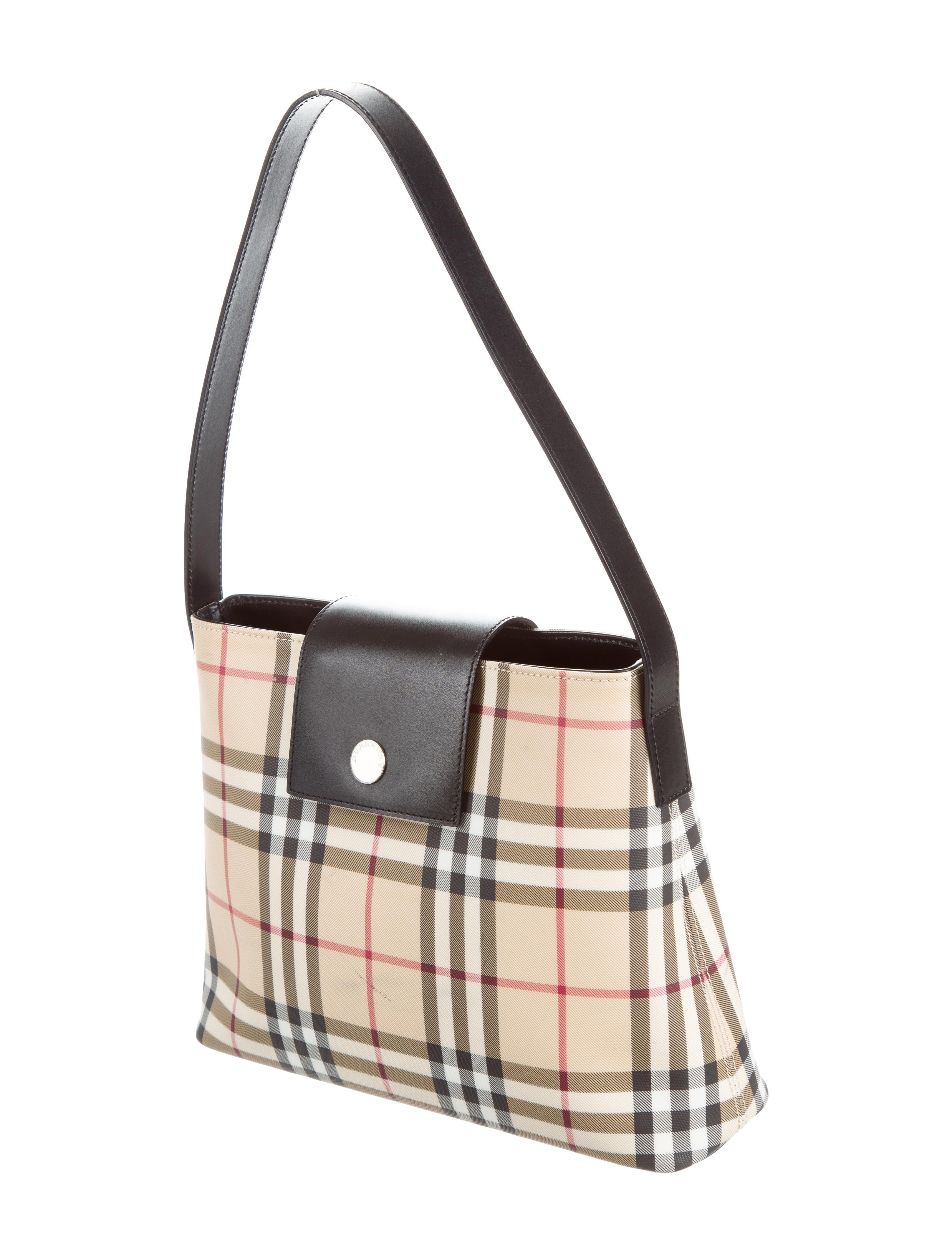 Burberry Nova Check Shoulder Bag - Handbags - BUR74463 ...