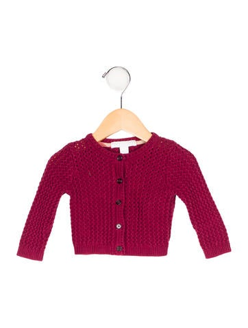 Burberry Girls' Button-Up Rib Knit Cardigan None