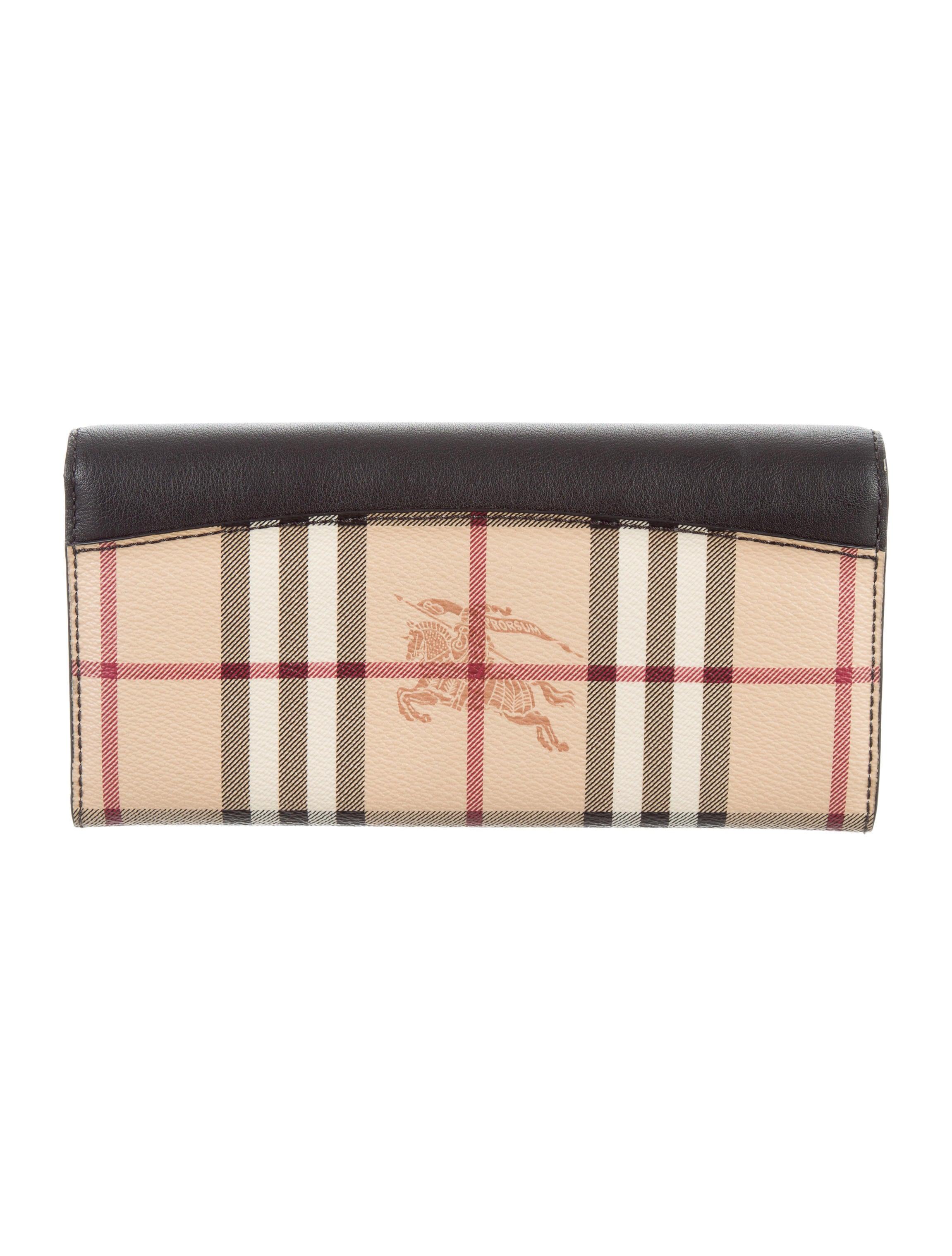 Burberry Nova Check Continental Wallet Accessories