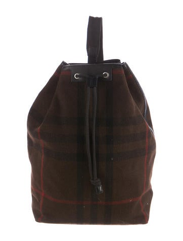 Burberry Wool Nova Check Backpack None