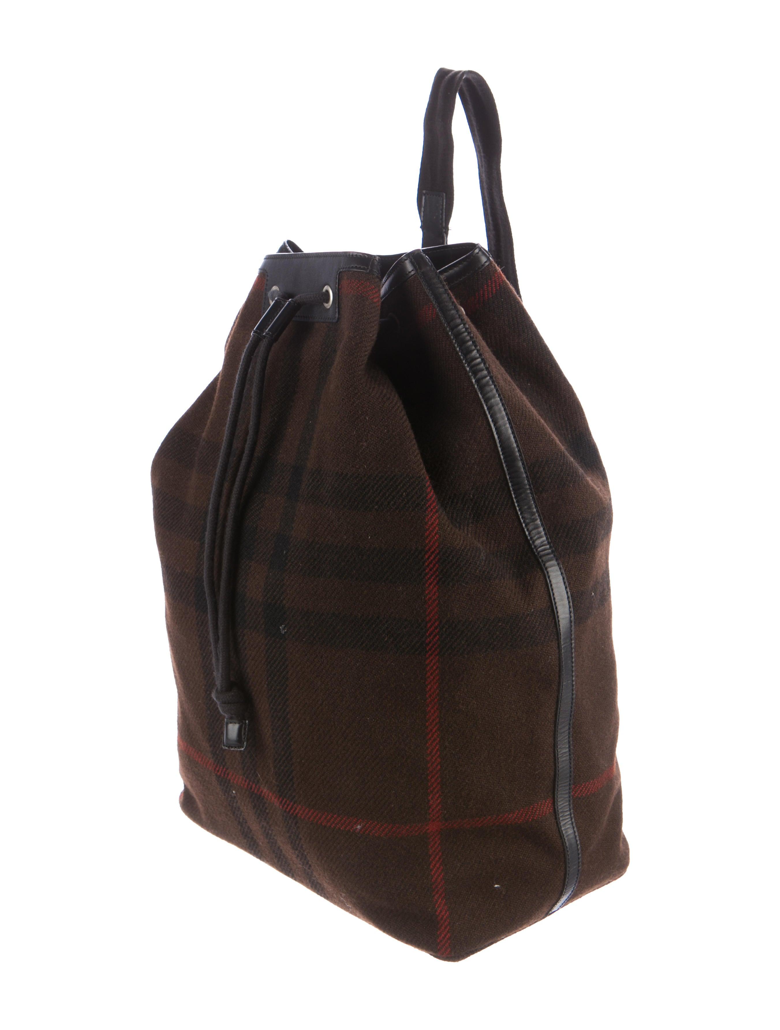 Burberry Wool Nova Check Backpack - Bags - BUR74930 | The ...
