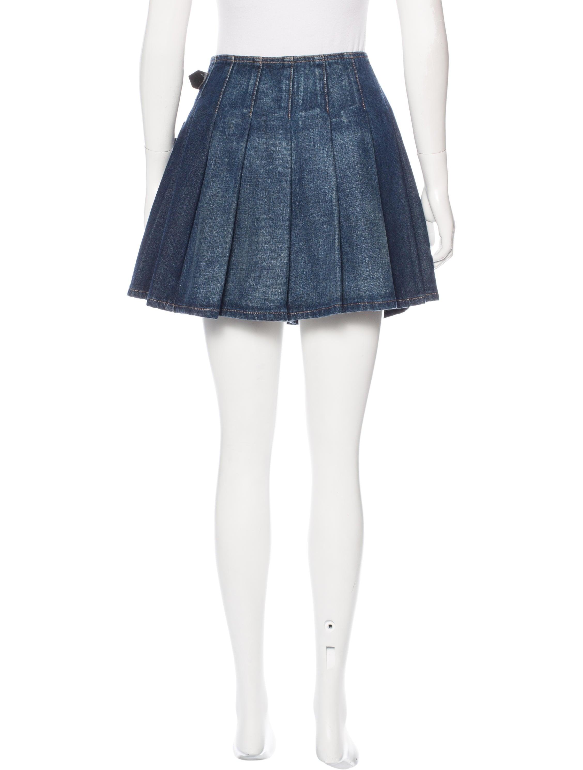 burberry denim wrap skirt clothing bur75073 the realreal