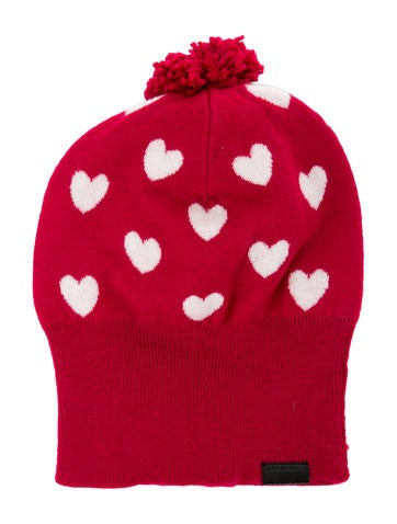 Burberry Girls' Cashmere Heart Beanie None