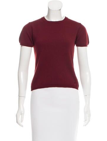 Burberry Merino Wool Short Sleeve Sweater None