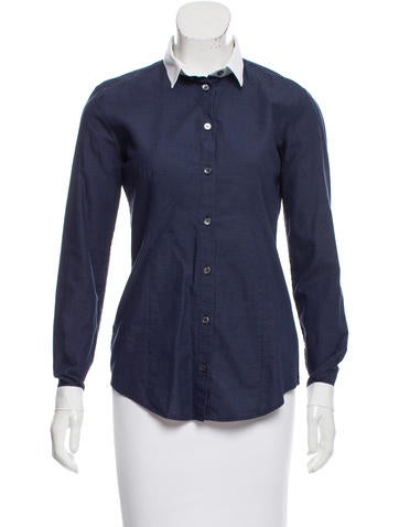 Burberry Textured Button-Up Top None