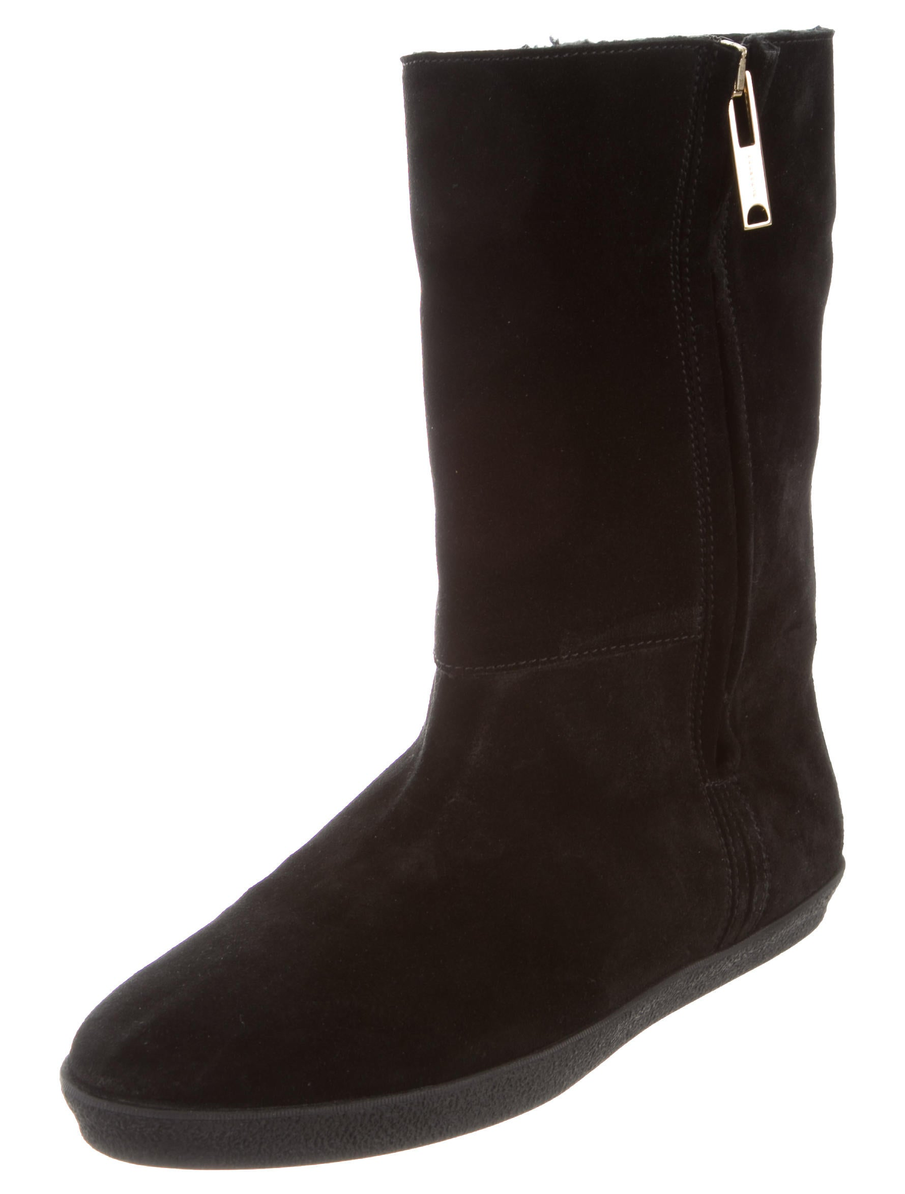 burberry suede mid calf boots shoes bur75644 the