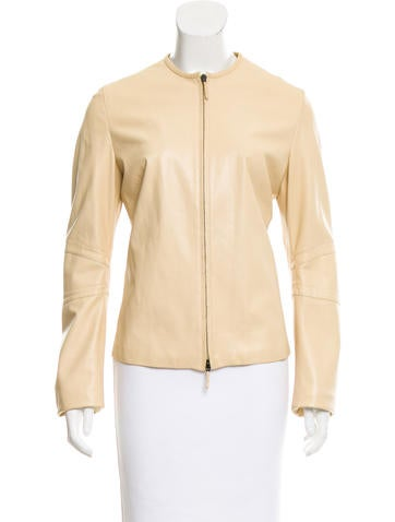 Burberry Leather Zip-Up Jacket None