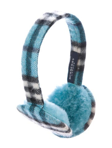 Burberry Cashmere Nova Check Ear Muffs None