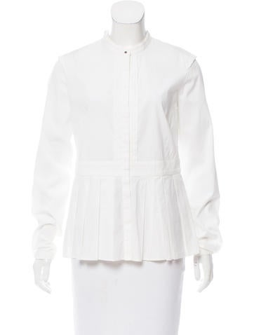 Burberry Poplin Button-Up Top None