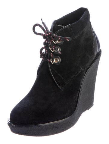 burberry watkins wedge ankle boots w tags shoes