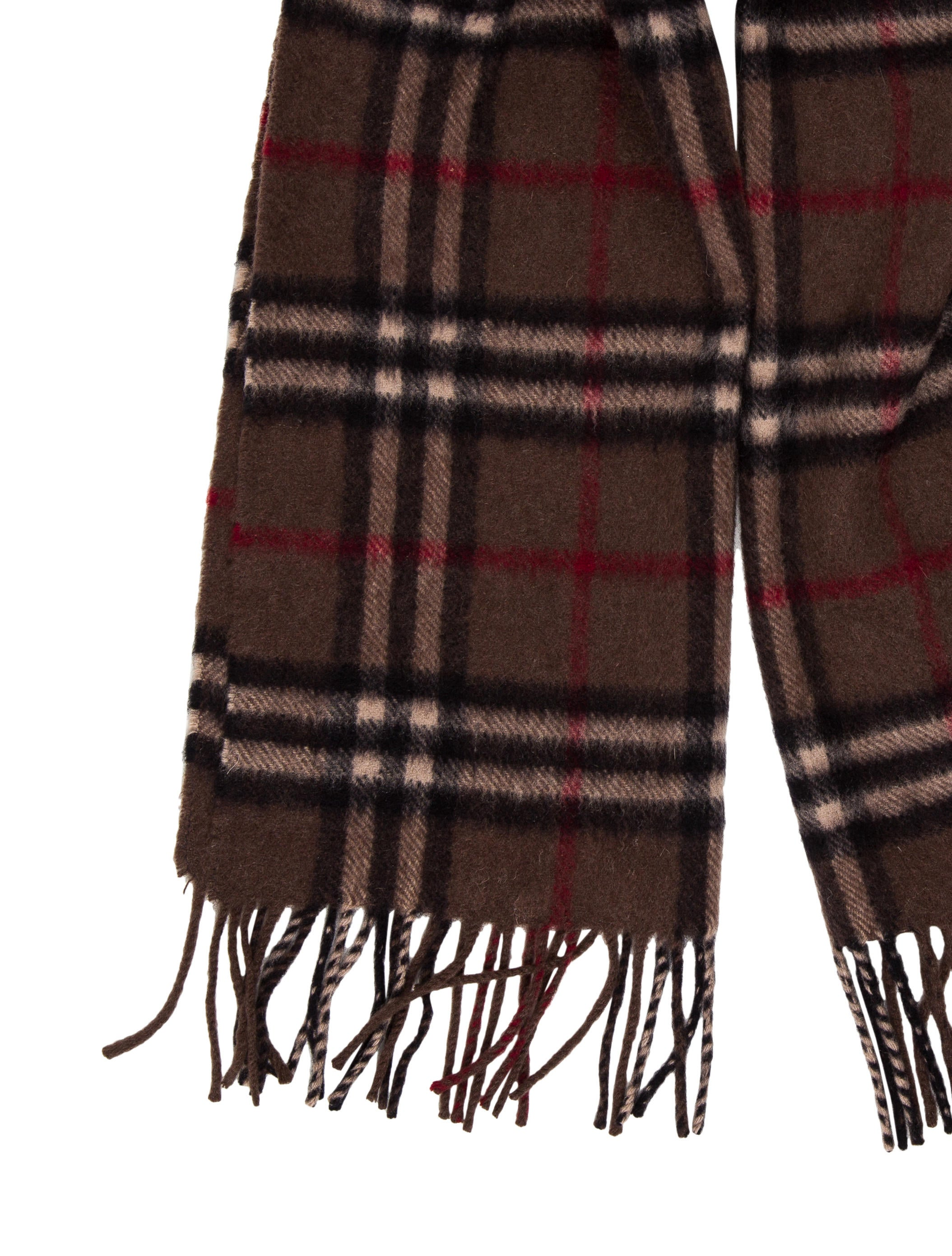 Burberry Cashmere Nova Check Scarf Accessories  : BUR765152enlarged from www.therealreal.com size 2109 x 2783 jpeg 680kB