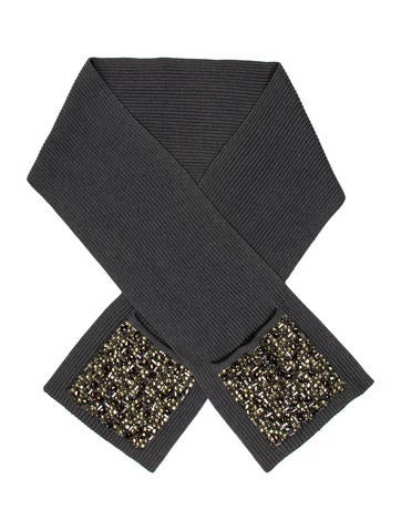 Burberry Embellished Knit Scarf None