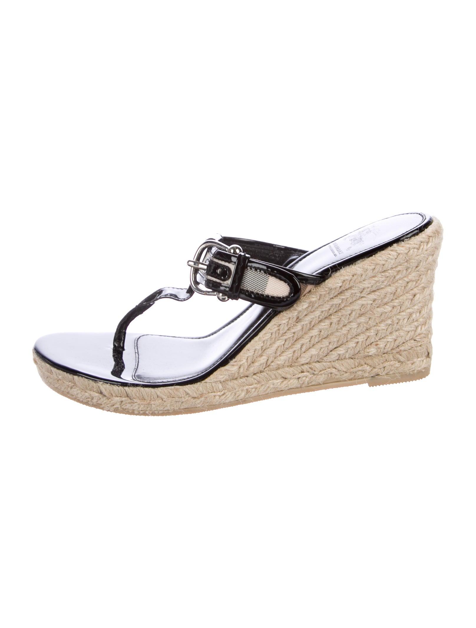 e5a98d50b7c Burberry Super Nova Check Espadrille Sandals - Shoes - BUR76674 ...