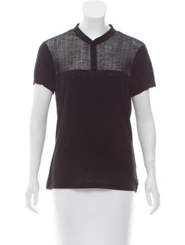 Burberry Perforated Wool Top None