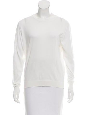 Burberry Knit Semi-Sheer Top None
