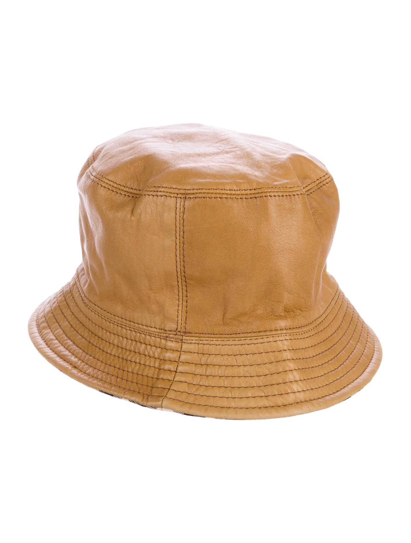 Burberry Leather Reversible Bucket Hat - Accessories - BUR77367 ... be9e4a23c7f