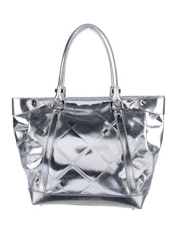 Burberry Metallic Super Nova Check Tote None