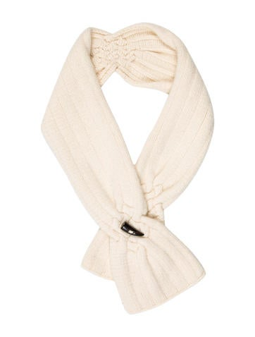 Burberry Wool Rib Knit Scarf None