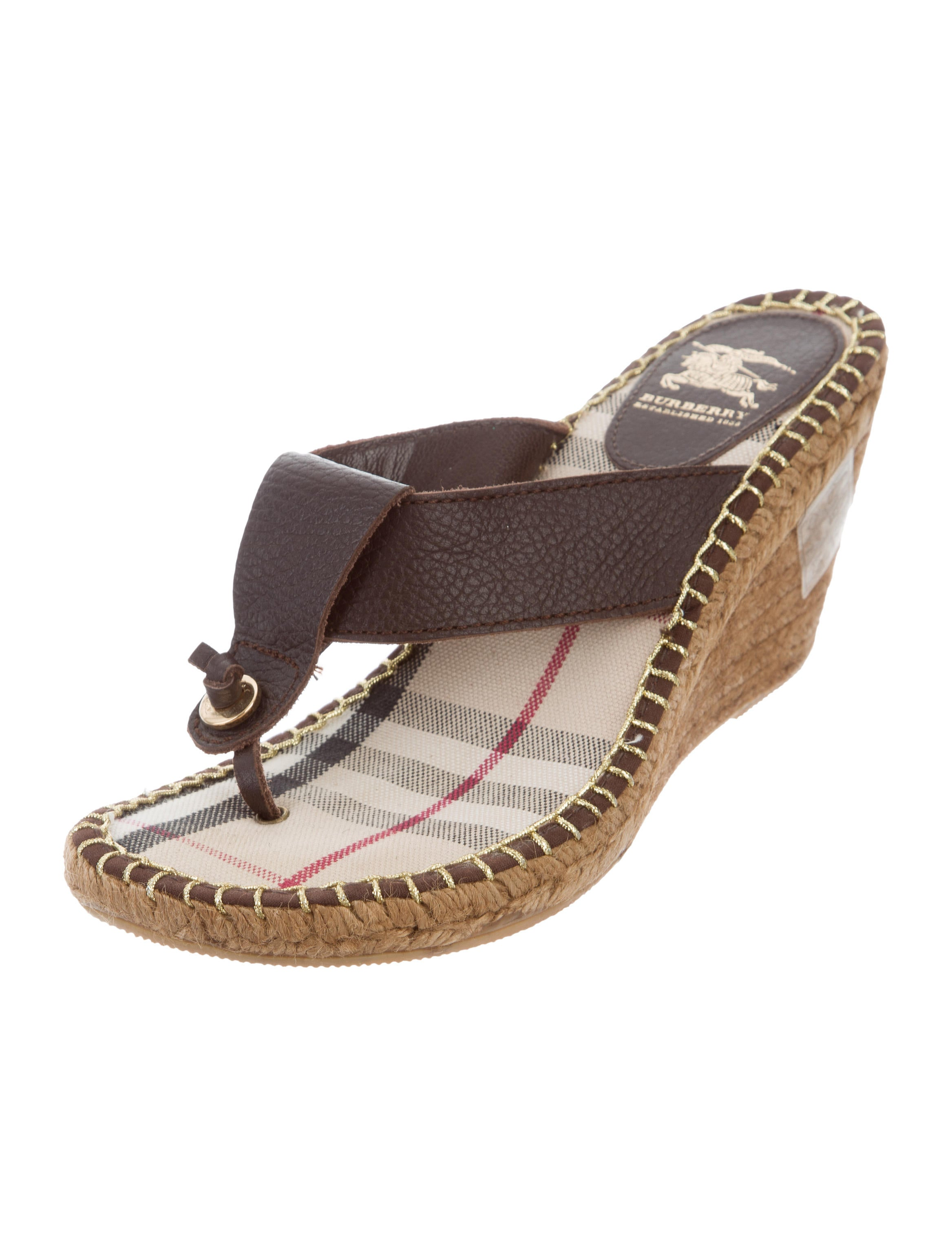 burberry leather wedge sandals shoes bur78017 the
