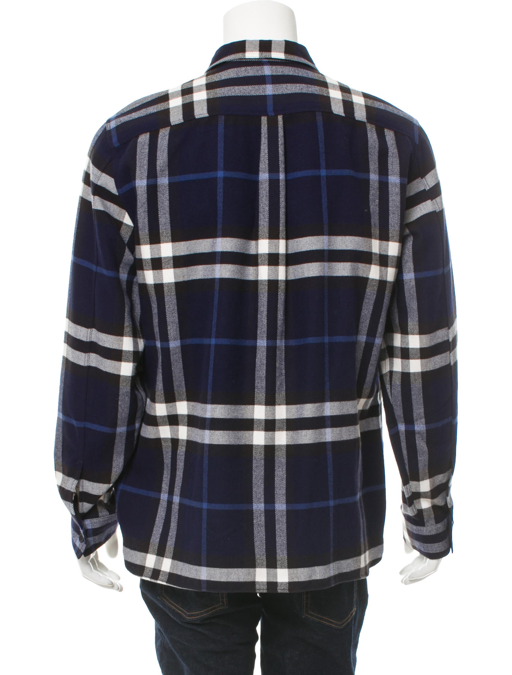 Burberry Plaid Button Up Shirt Clothing Bur78470 The