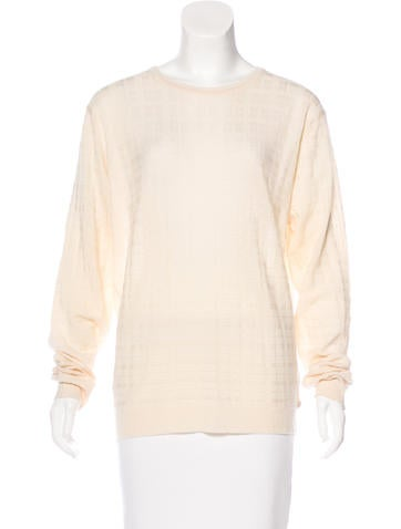 Burberry Jacquard Wool Top None