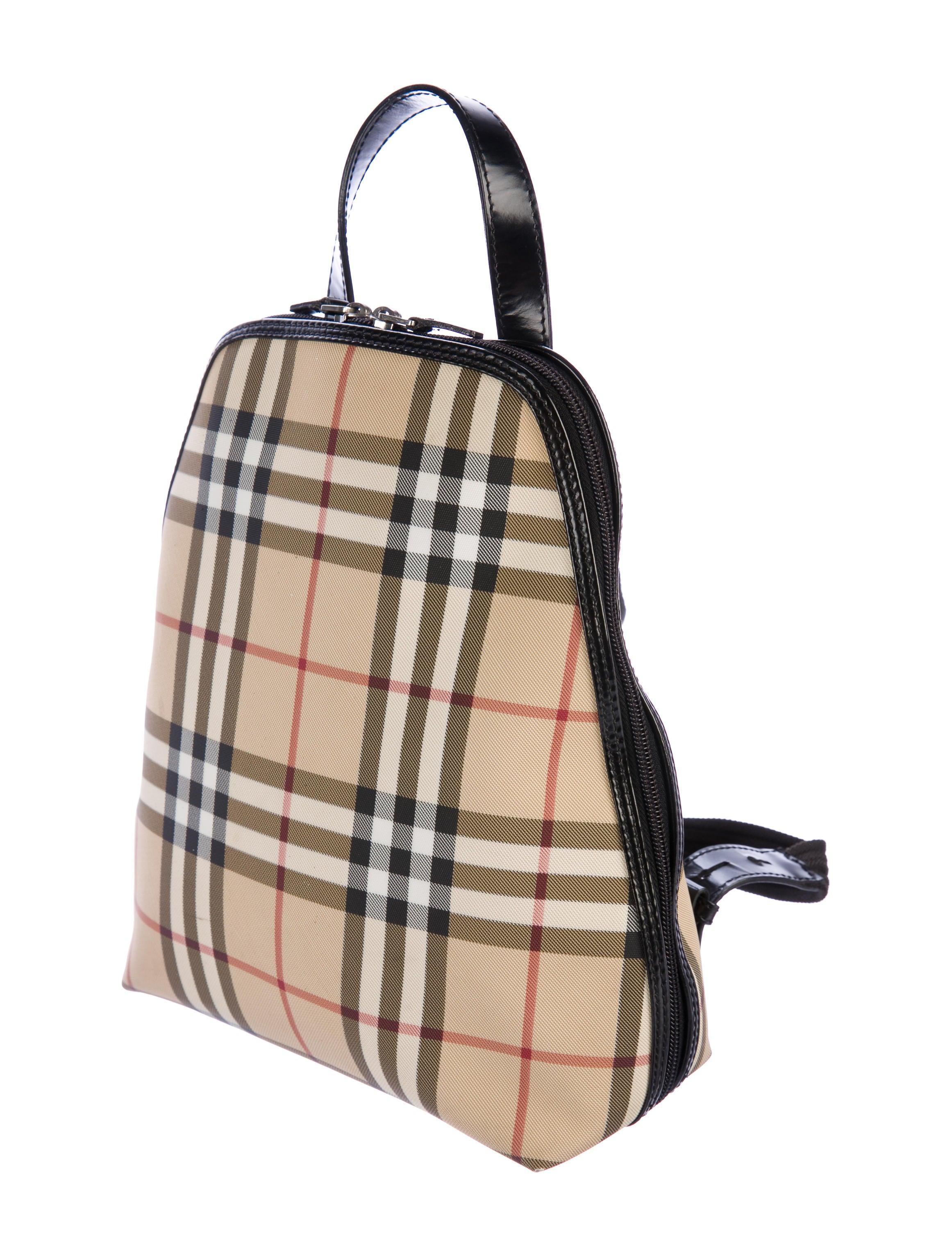 Burberry London Nova Check Backpack - Handbags - BUR78716 ...