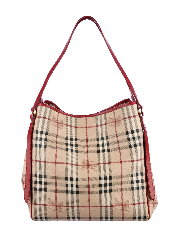 cf49353bba Burberry Canterbury Haymarket Tote w/ Tags - Handbags - BUR78982 ...