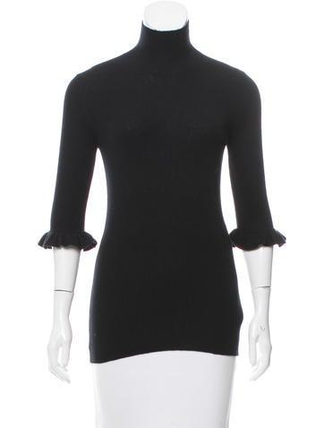 Burberry Ruffled Cashmere Sweater None
