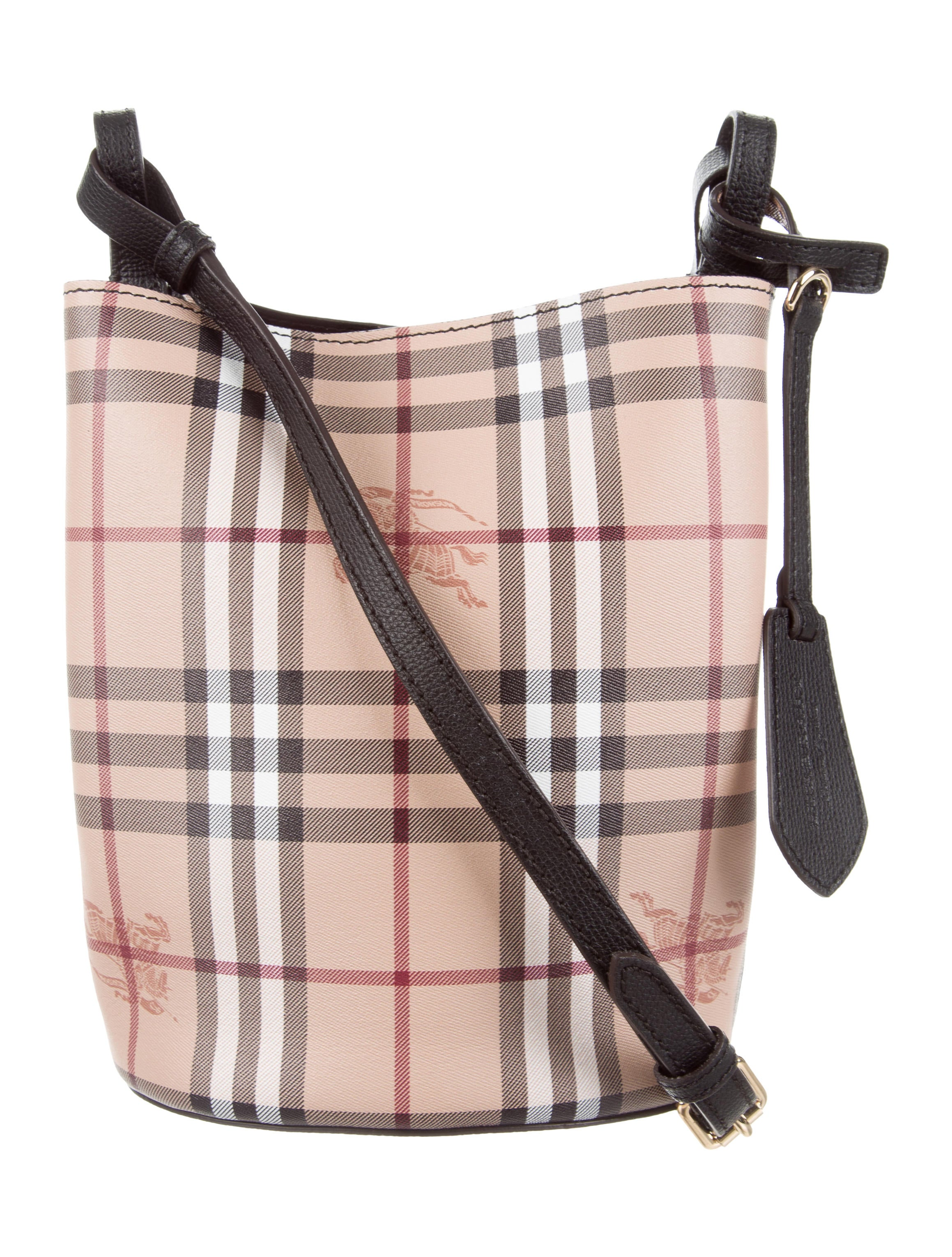 c31c2927424c Burberry Small Haymarket Check Lorne Bucket Bag - Handbags ...