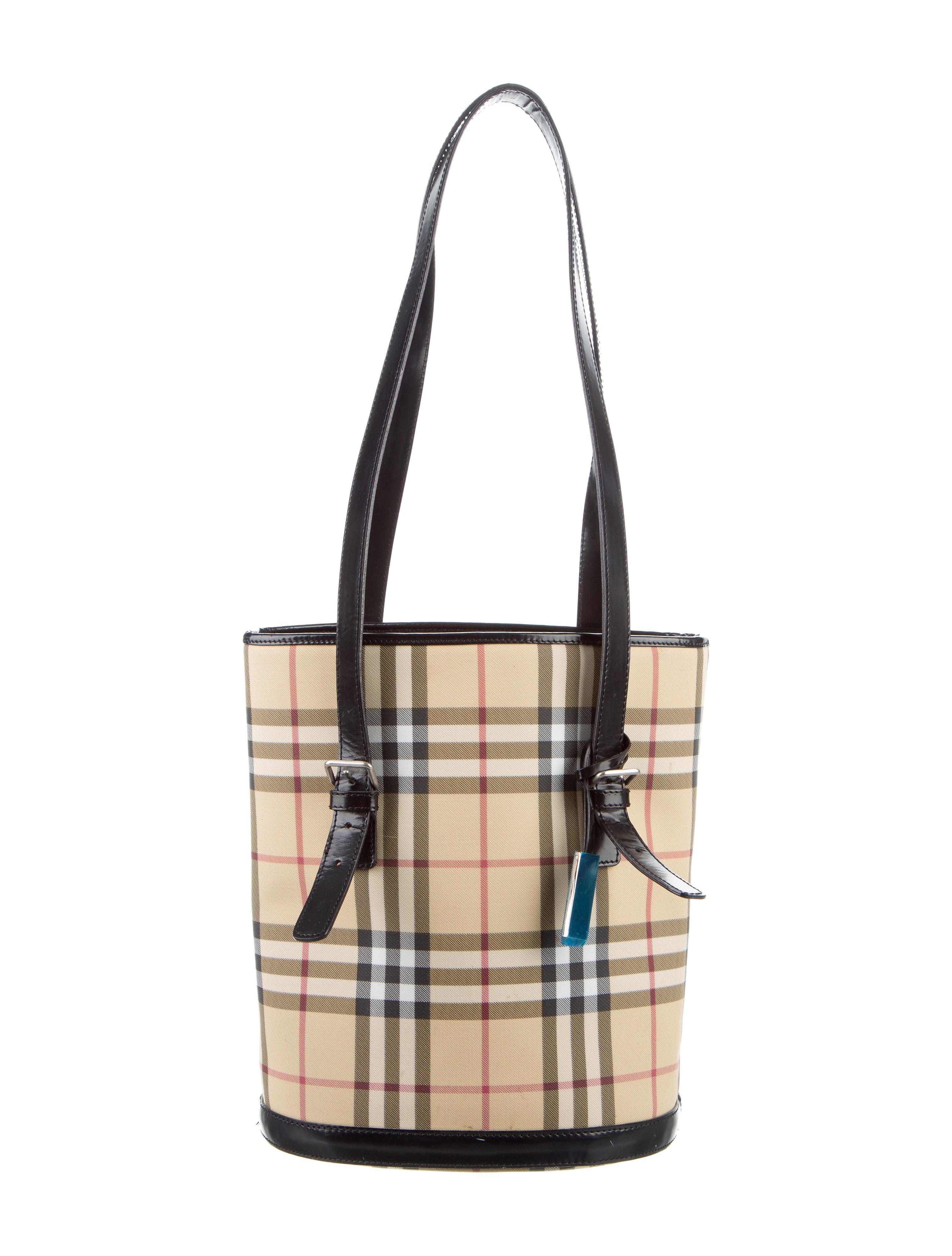 Burberry Nova Check Bucket Bag - Handbags - BUR79482  5a27609e34ab3