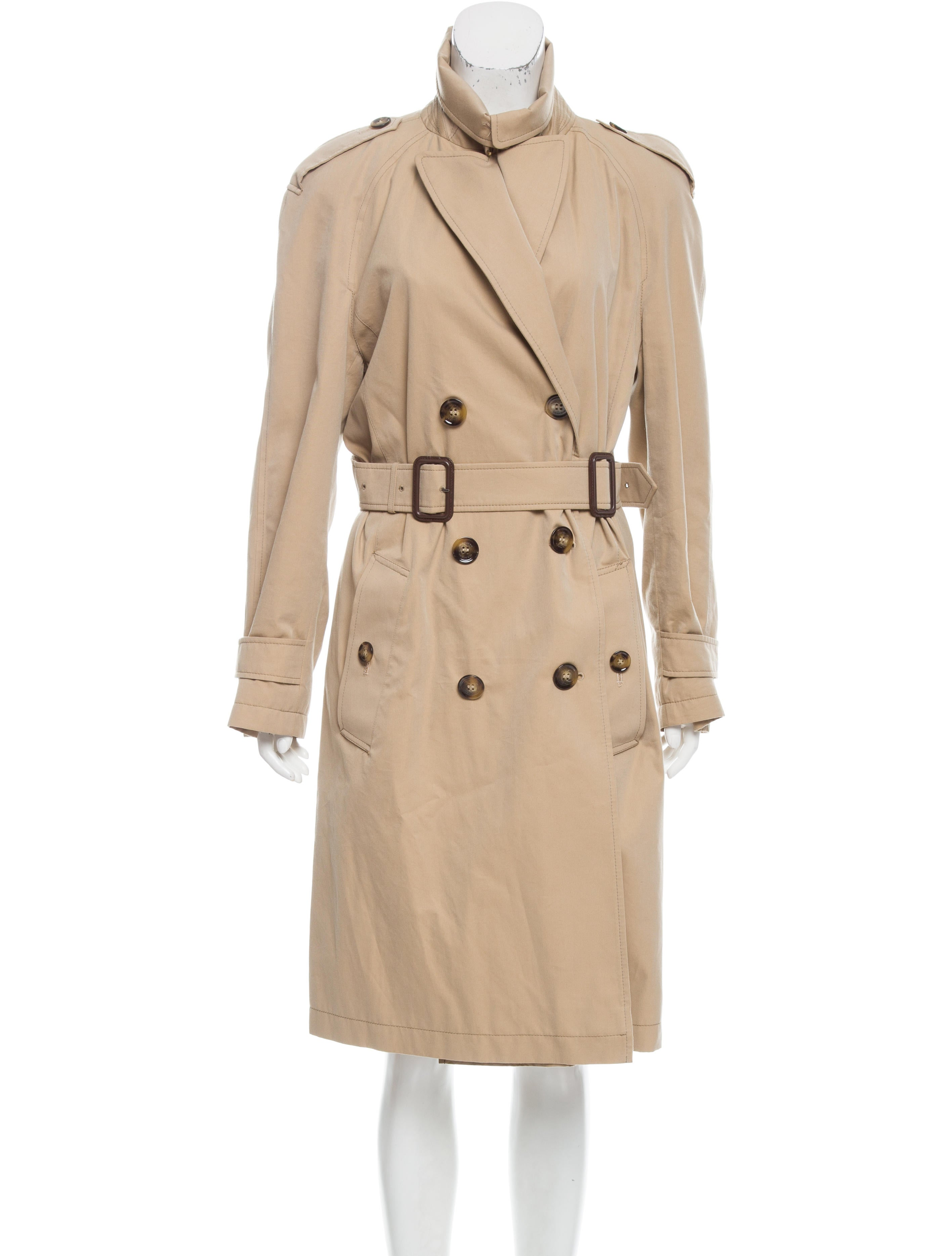 burberry double breasted trench coat clothing bur79698. Black Bedroom Furniture Sets. Home Design Ideas