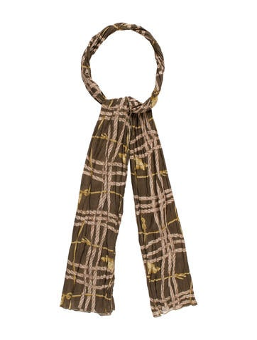 Burberry Printed Pleated Scarf None